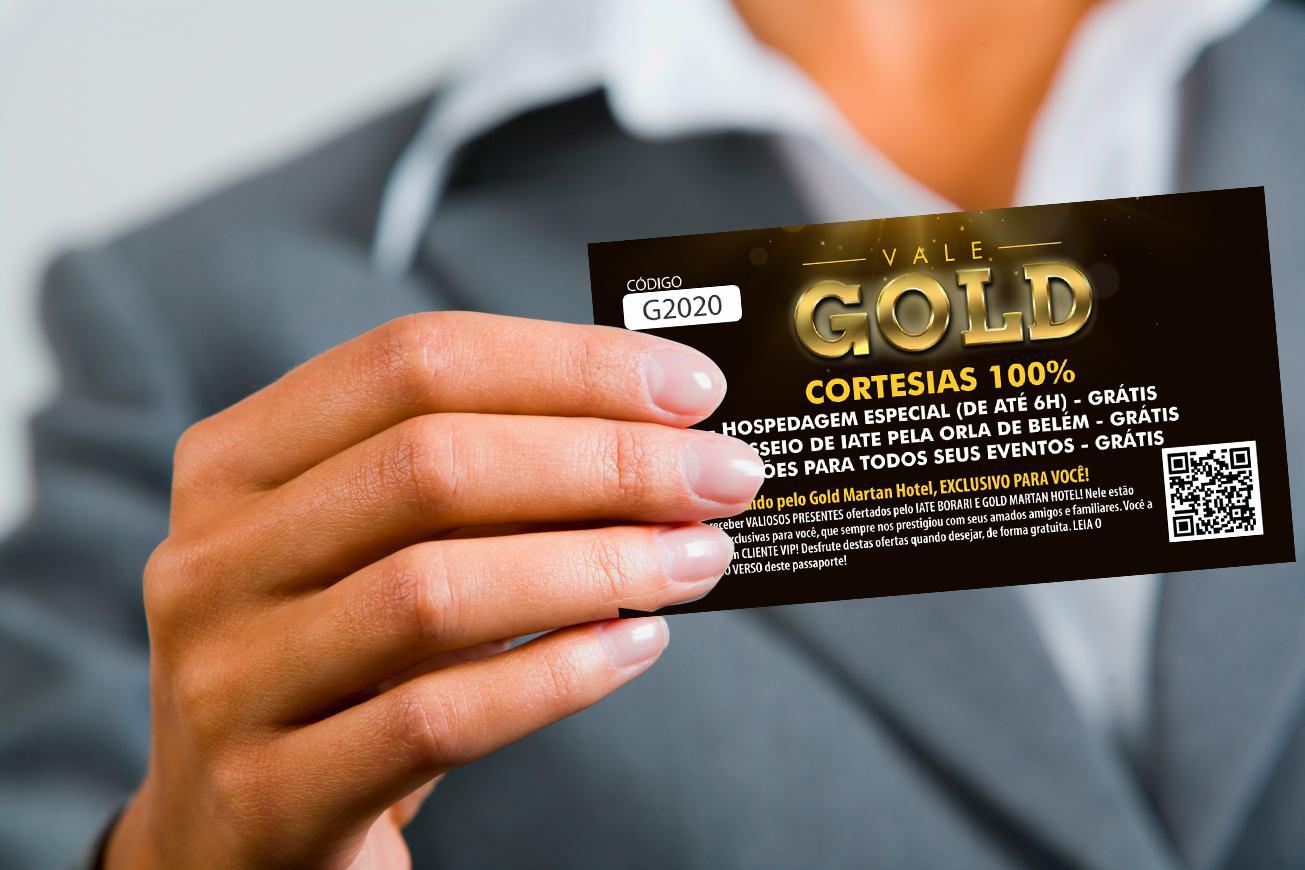 VALE GOLD. CORTESIAS 100% CONCEDIDO PELO GOLD MARTAN HOTEL, EXCLUSIVO PRA VOCÊ!